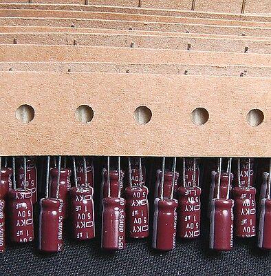 10pcs-- 1uf 50v Radial Electrolytic Capacitor 50v1uf Ncc Ky Japans Cap