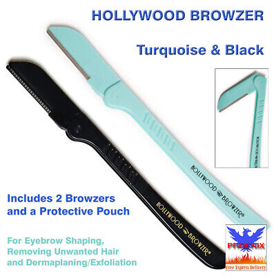 HOLLYWOOD BROWZER Turquoise & Black (Includes 2 Browzers and a Protective Pouch)