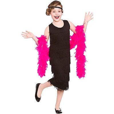Kinder-Mädchen Charlestton Flapper Modisches Kleid Kostüm Buch Tag 20er Outfit
