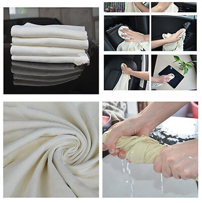Dry Your Vehicle Car Chamois Leather Extremely Water Absorption Cleaning Towel