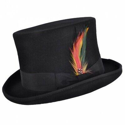 Wollfilzhut Zylinder Wool Felt Top Hat Black Steam Punk Gothic Hochzeit NEU S-XL