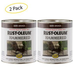 Rust Oleum 239075 Hammered Metal Finish Dark Bronze 1 Quart