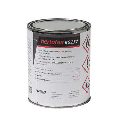 Hertalan ks137 0,9kg Kontaktkleber EPDM Kleber für Dachfolie Dach Folie Carport