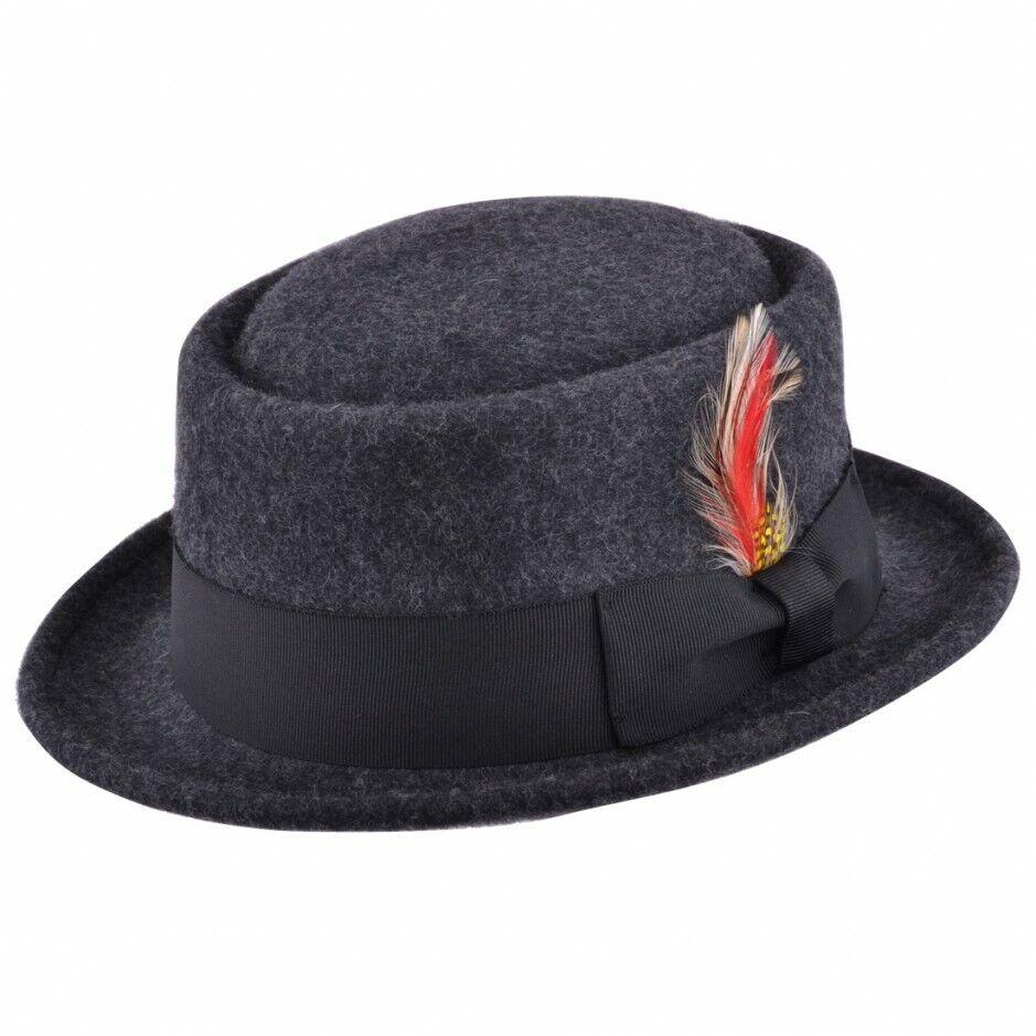 SUPERBE artisanale Bonnets en feutre en 5 couleurs superposé Felt chapeau vintage cap