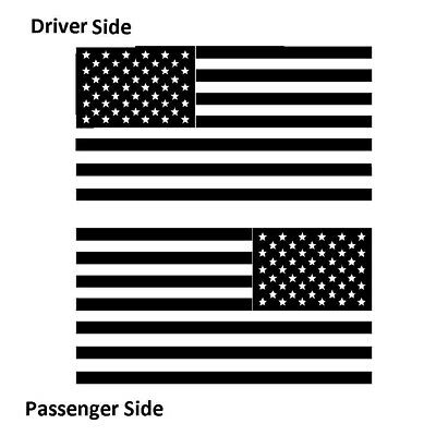 American Flags Tactical Military Flag Black Out Set of 2 USA Vinyl Decal -