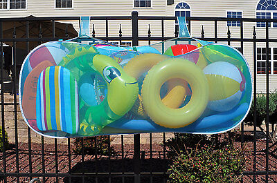 Water Tech 60A0104 Swimming Pool Pouch Holds Raft Float Toy Holder Blue