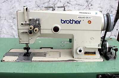 Brother Lt2-b842-5 Double Needle Feed 1 Gauge Reverse Industrial Sewing Machine