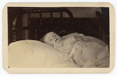 MY BROTHER ERNEST WHITMORE AS HE LAY DEAD POSTMORTEM CDV PHOTO SALEM MASS.