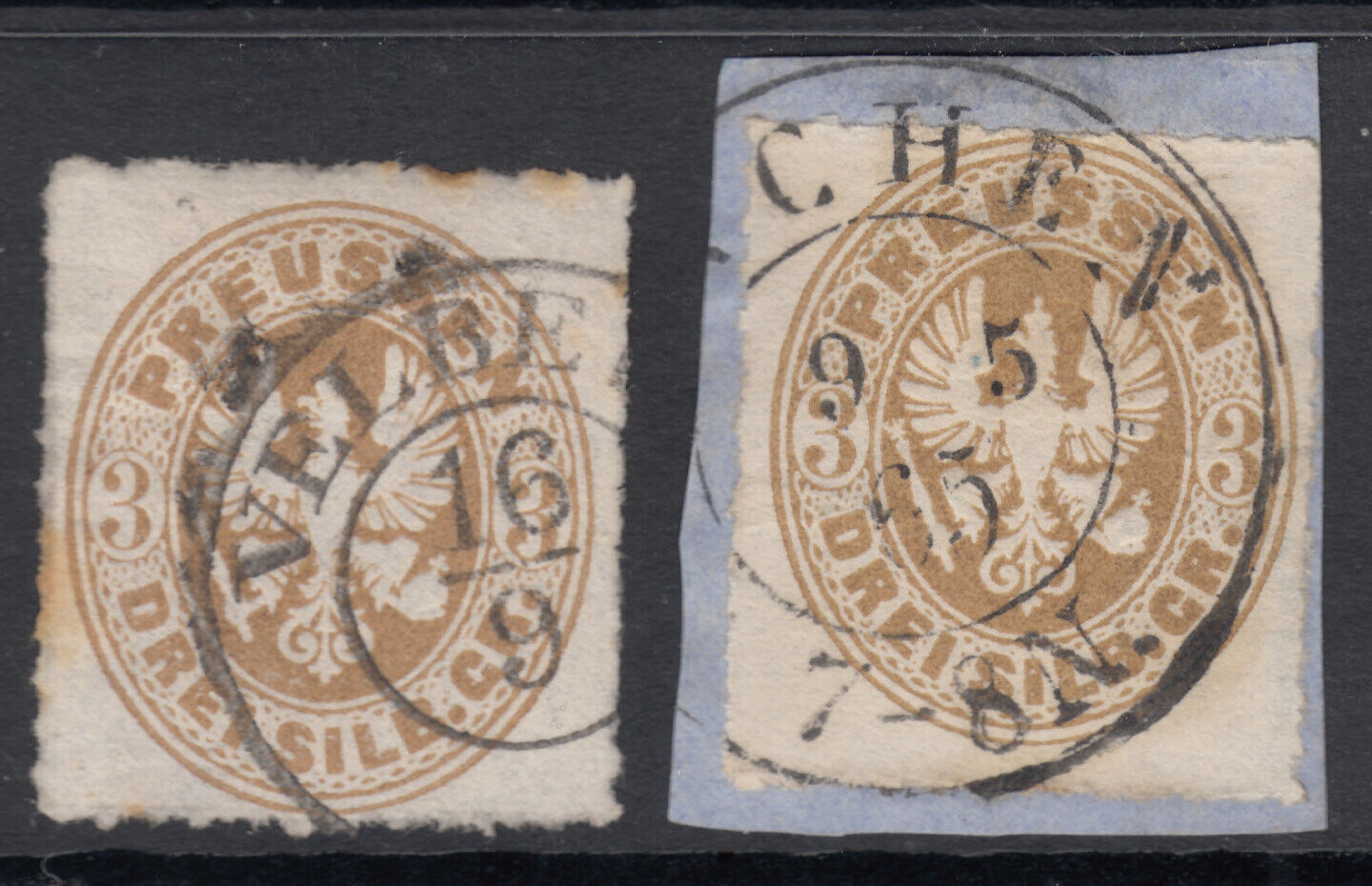 GERMAN STATE - USED PRUSSIA 20 WITH DIFFERENT CANCELLATIONS CV 4.00 - $1.95