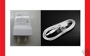 Genuine Samsung Galaxy S4 Wall Charger 2A + USB Cable S2 S3 i9300 Note 2 II