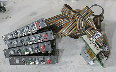 4x Calrec DL3678-2 compressor limiters with cables and edac back connector board