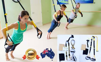 Suspension Training Bodyweight Fitness Exercise System Gym Straps