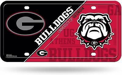 Georgia Bulldogs License Plate Lightweight Metal Official NCAA Licensed NEW  Georgia Bulldogs Metal