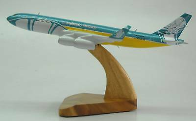 A 340 Caribbean Airlines Airbus A340 Airplane Desk Wood Model Big New