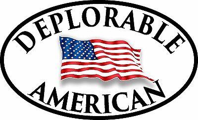 DEPLORABLE AMERICAN FLAG DECAL WINDOW BUMPER STICKER POLITICAL TRUMP