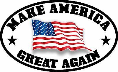 Make America Great Again Maga Trump American Flag Decal Sticker Political