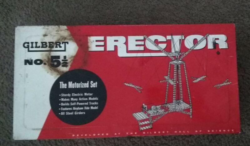 "Gilbert Erector Set No. 5 1/2 ""The Motorized Set"" Metal Case Only"