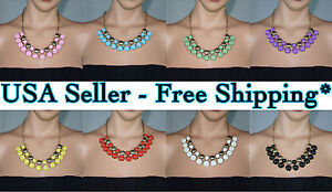Bubble-Bib-Statement-Fashion-Classic-Crew-Necklace-USA-Seller-Free-Shipping-J-N2