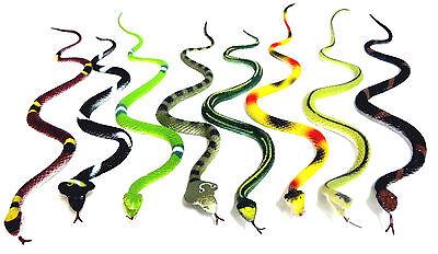 8 x Gummischlange SCHLANGEN  ca.30 cm 8 verschiedene Schlange NEU