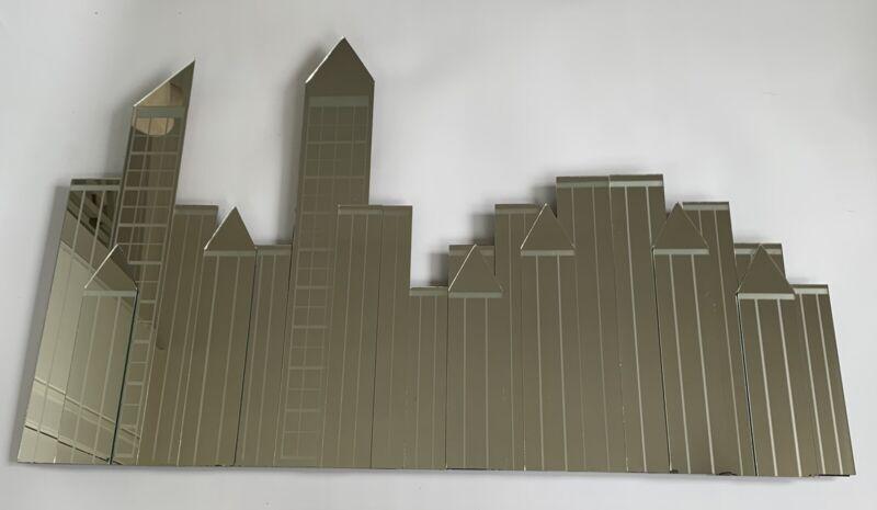 Vintage New York Skyline Mirrors Empire State Building Mechanical Mirror Works