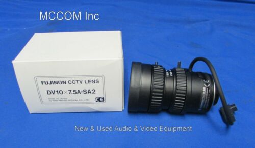 "Fujinon DV10x7.5A-SA2 1:2/7.5-75mm 1/2"" CS-Mount Lens"