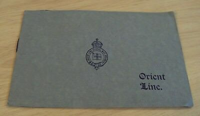 Rare 1910S Advertising Guide Orient Steamship Lines Ship Rooms Art