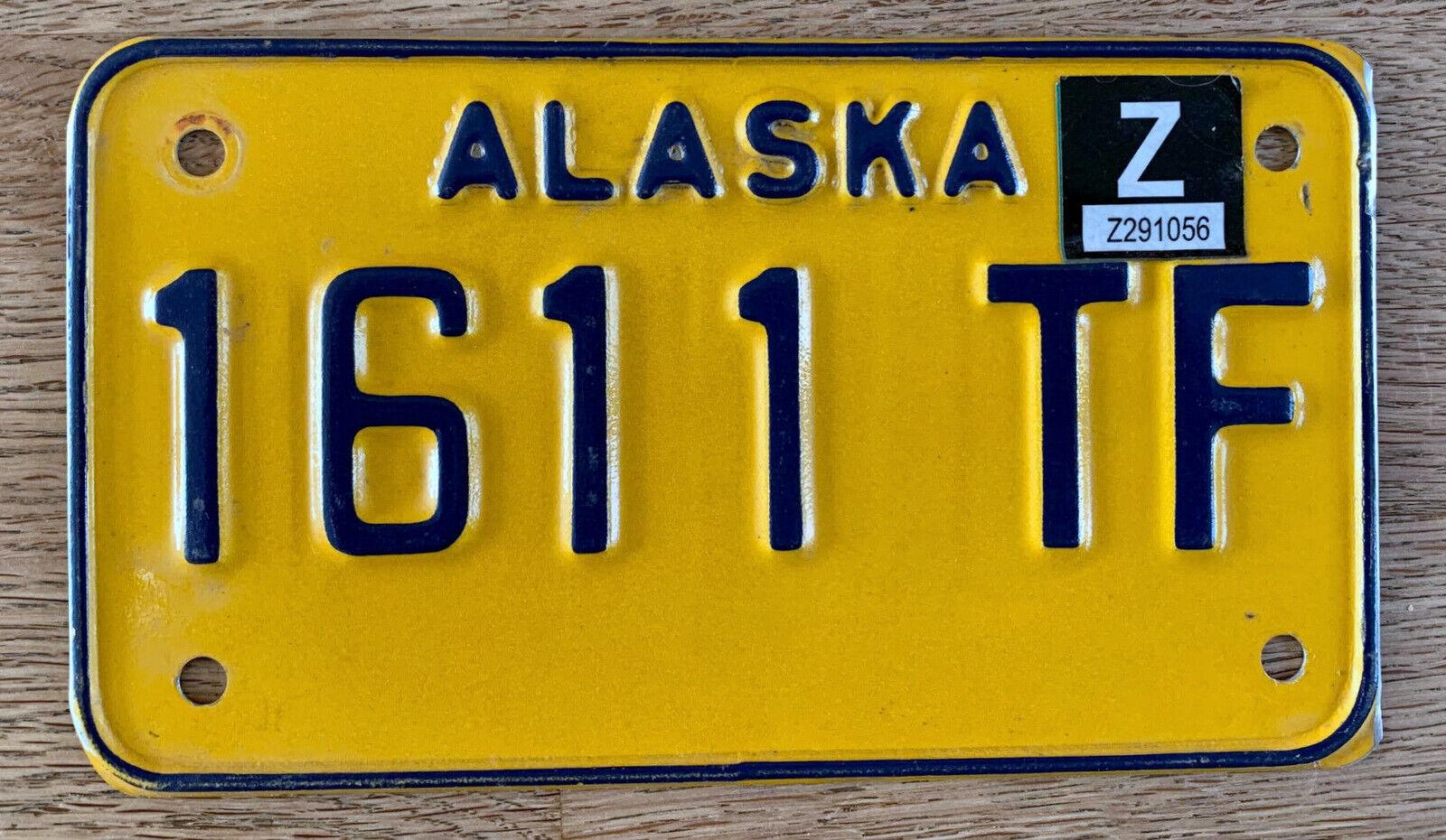 Nummernschild USA Kennzeichen MOTORRAD ALASKA 1611 TF Z Bike M / Cycle SELTEN