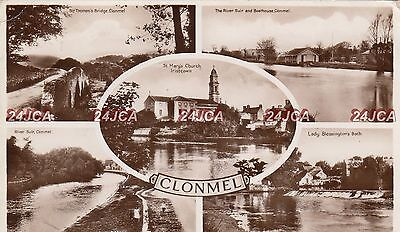 Irish Multi-view Real Photo. Clonmel. Co. Tipperary. River Suir Bathouse. 1939
