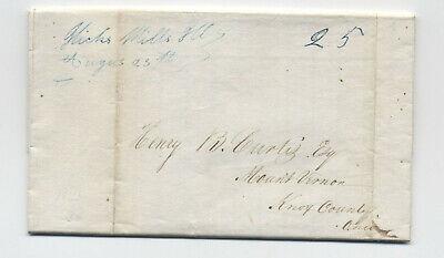 1841 Hicks Mills Il manuscript stampless folded letter [5806.515]