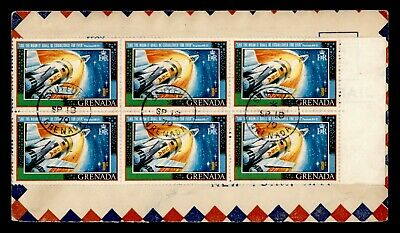 DR WHO 1970 GRENADA SAUTEURS SPACE BLOCK AIRMAIL TO CANADA  g18439