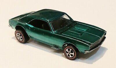 Hot Wheels REDLINE 1968 GREEN CUSTOM CAMARO! EXCELLENT PLUS CONDITION!!