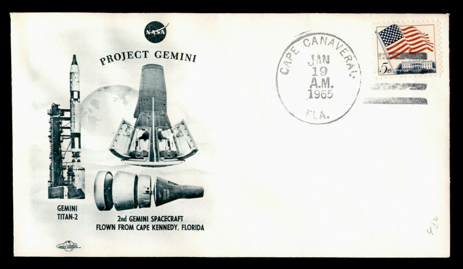 DR WHO 1965 PROJECT GEMINI TITAN 2 SPACE CRAFT NASA MISSION CANAVERAL FL C212196 - $1.94