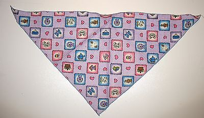 """NEW  22""""  X 16"""" X 16"""" TRIANGLE  DOGGIE SCARF - EASTER HOLIDAY - HEARTS/ BASKET"""