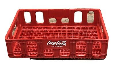 "Coca-Cola Plastic Stackable Crate 18.5"" x 12"" Vintage Red Coke Beverage Tray"