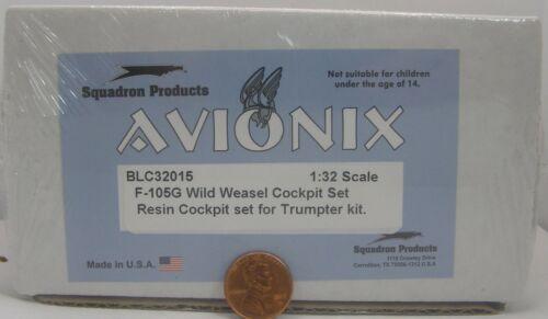 Avionix Resin Set 1:32 BLC32015 F-105G Wild Weasel Cockpit Set for Trumpeter