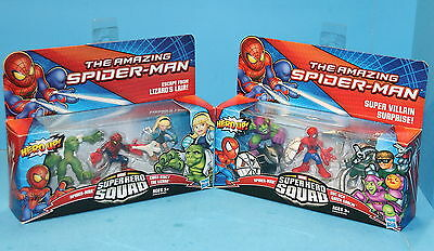 MARVEL SUPER HERO SQUAD 2 SETS ESCAPE FROM LIZARDS LAIR & SUPER VILLAIN SURPRISE