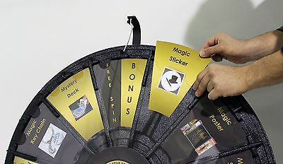 31in Prize Wheel Case Floortable Stand And Insert Your Paper Graphics Logo