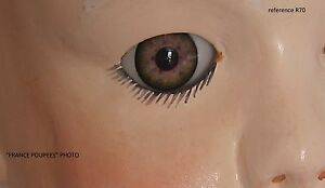 yeux-marron-vert-26mm-R70-poupee-MODERNE-vintage-bebe-realiste-Reborn-doll-eyes