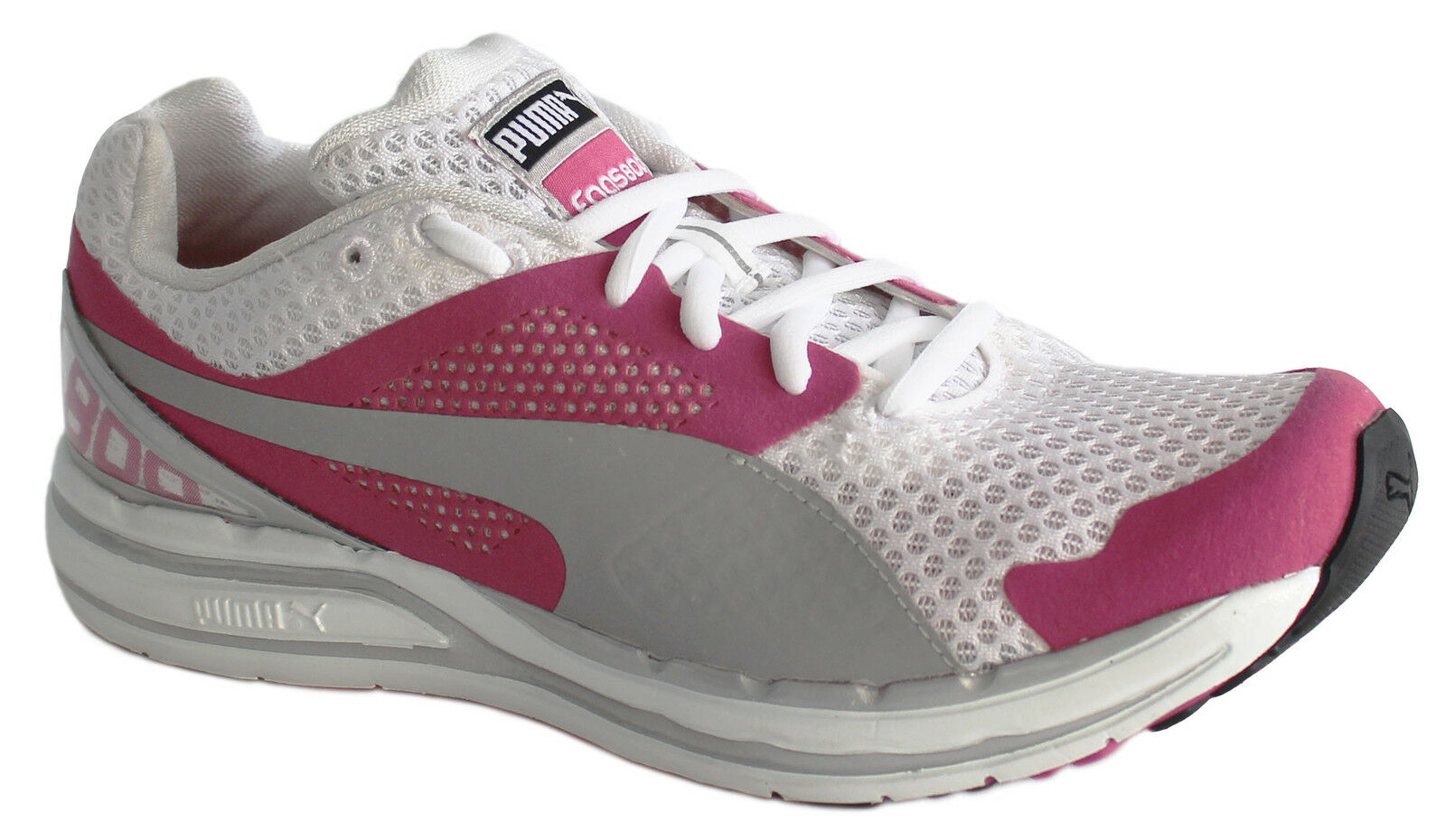 c7806d52781 Puma Faas 800 Womens Trainers Running Shoes Rose White Lace Up ...