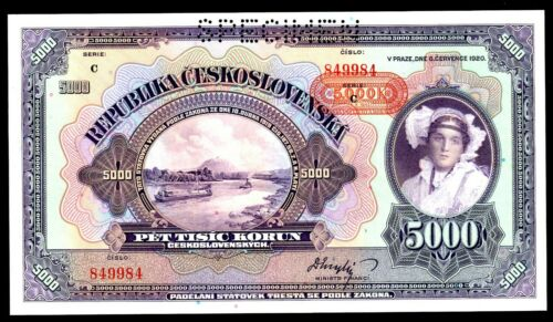 Bohemia & Moravia ... P-16 ... 500 Korun ... 1943 ... * GEM UNC *  SPECIMEN.