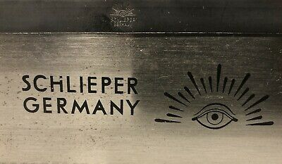 Schlieper Germany Eye Knife Brand Wood Hand Etched Blade Tenon Vtg Back Saw Hunt