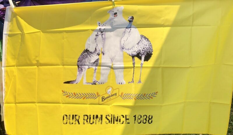 Large Bundaberg Rum Flag