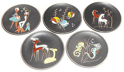 1 Ruscha Mid Century West Germany Fat Lava Ceramic 70S Wall Plate 22 Diff  Ones
