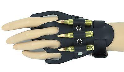 - Glove Bracelet  Genuine Leather Real .223 Bullets Punk Goth Bikers Rockabily