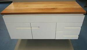 New 1200w Caboom Bathroom Vanity Cabinet + Messmate Timber Top Melbourne CBD Melbourne City Preview