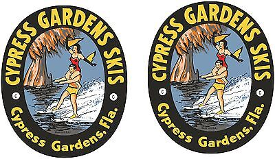 2 VINTAGE CYPRESS GARDEN Decals  Asst. Sizes  FREE (Cypress Gardens)