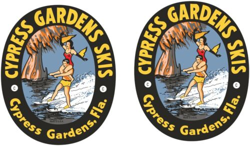 2 VINTAGE CYPRESS GARDEN Decals  Asst. Sizes  FREE SHIPPING