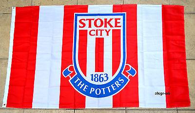 Stoke City Flag Banner 3x5 England British UK Premier Football Soccer Stoke City Football