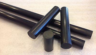 Delrin Acetal Rod 1 14 1.250 Diameter X 12 Long Black Superior Wear