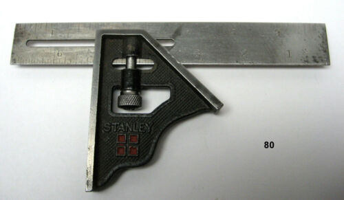 """Antique Stanley 4 Square Sweetheart (SW) 7"""" Combination Square PAT. 1-23-17"""